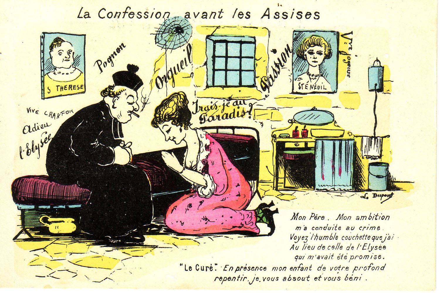 """La Confession avant les Assises"" ""The Confession before the Assises"""