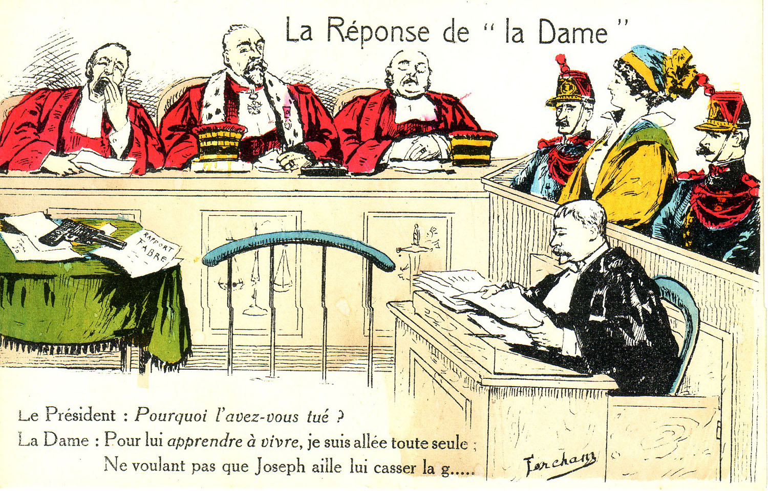 """La Reponse de la 'Dame.'"" ""The Response of the 'Lady.'"""