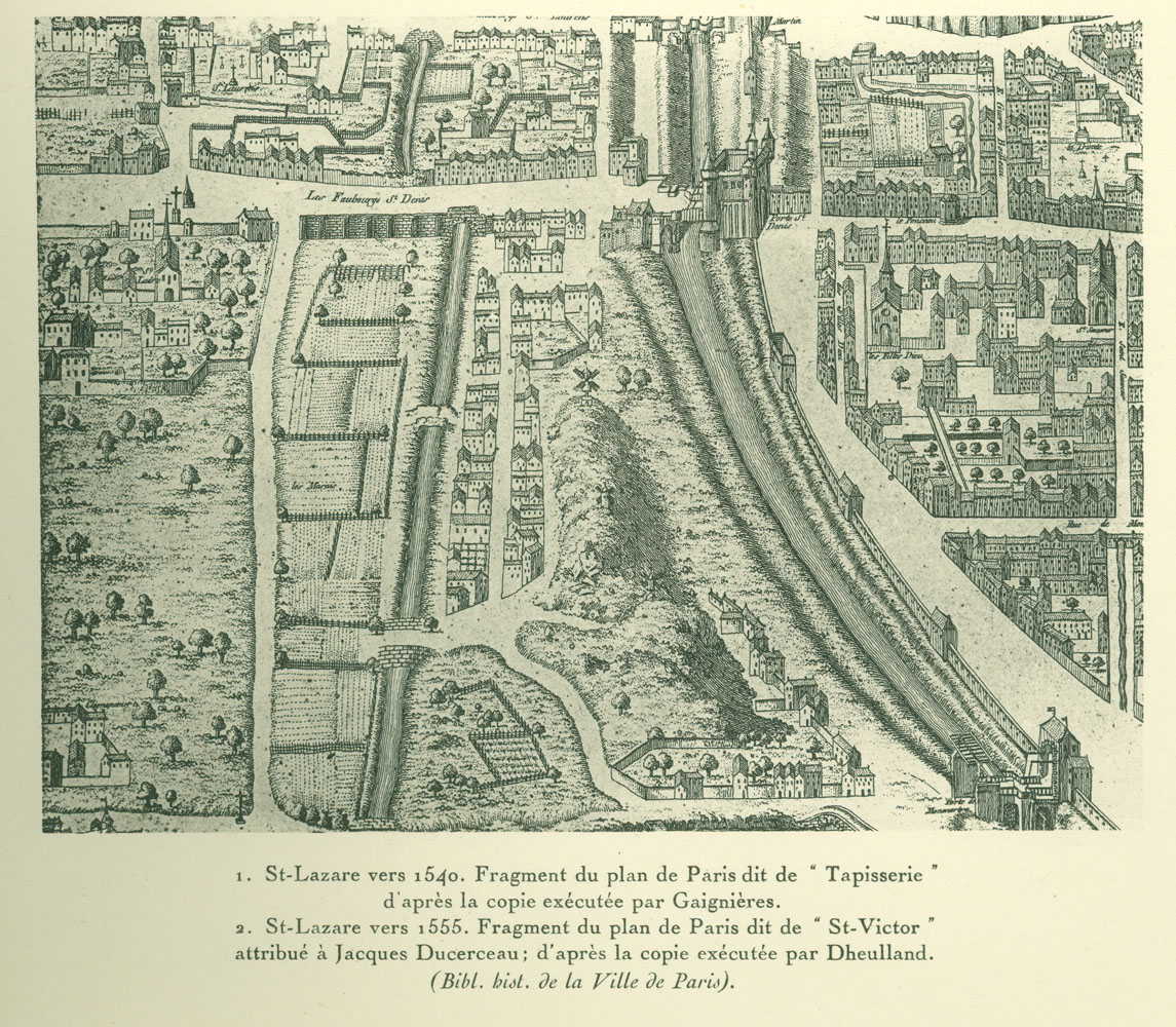 Fragment of the Saint-Victor map of Paris