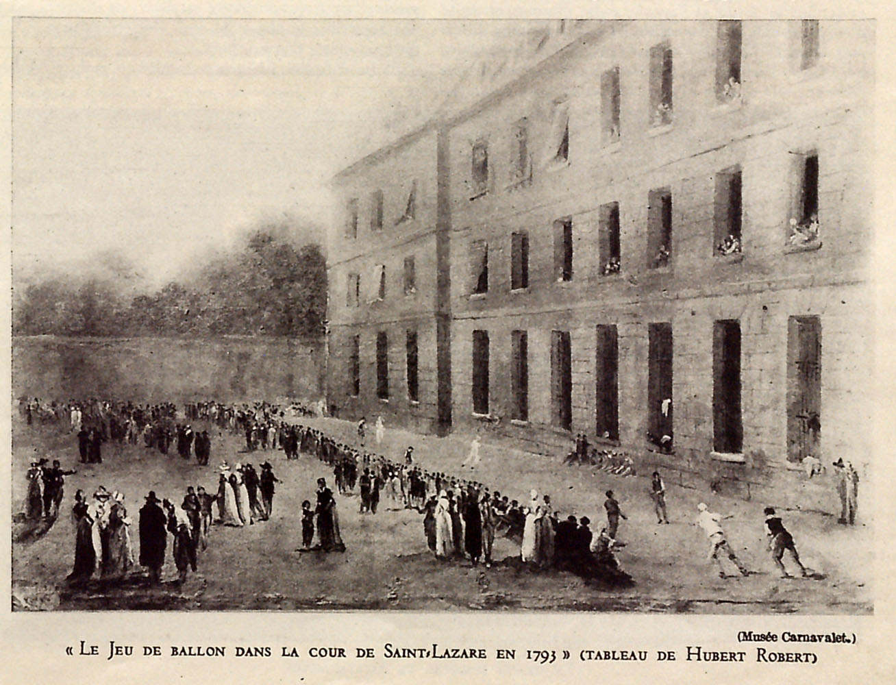 A Baloon game in the courtyard of Saint-Lazare in 1793