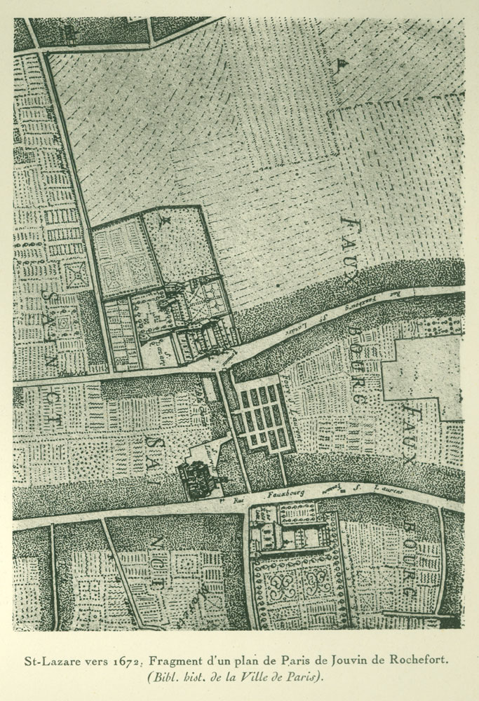 Fragment of a map of Paris
