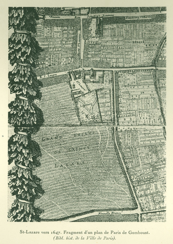 Fragment from a map of Paris