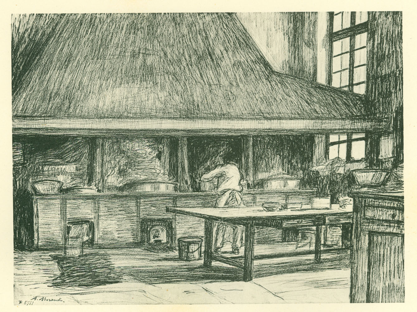 The ancient kitchen of St-Lazare