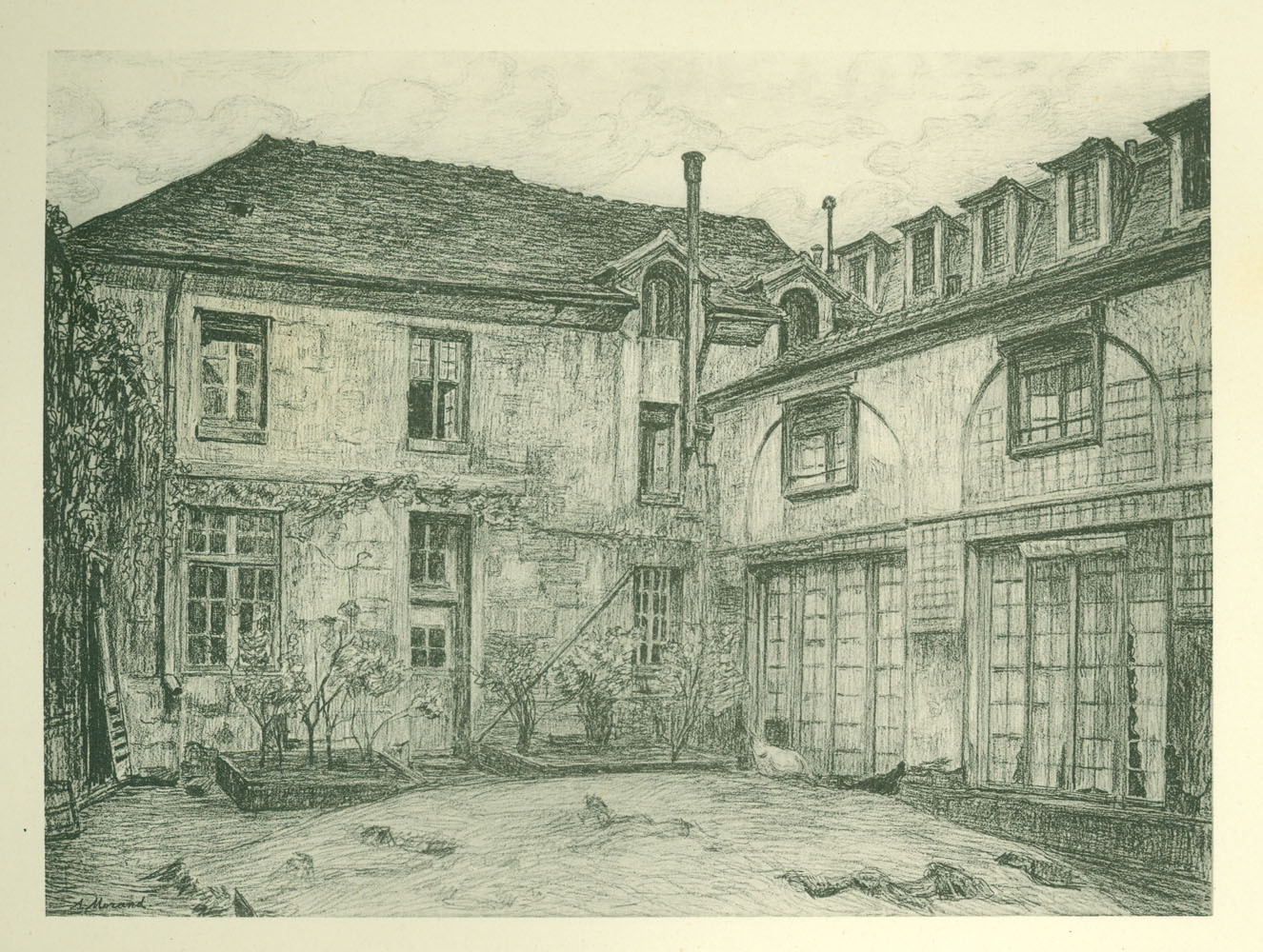 Exterior view, magasin général for the prisons of the Department of the Seine