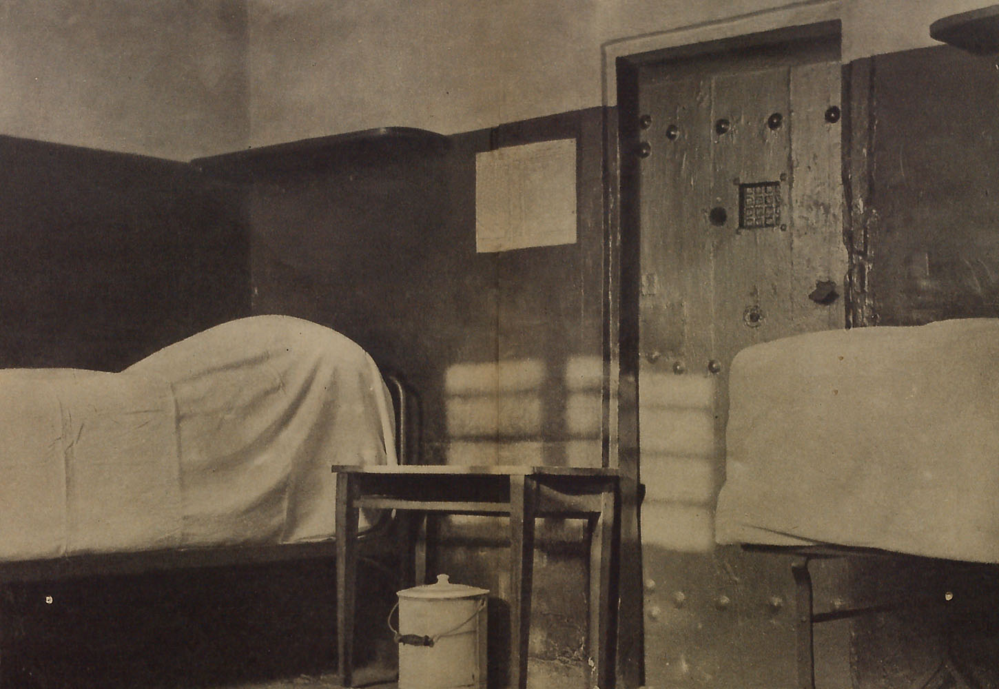 Interior view, prison cell