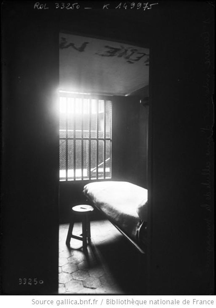interior of a cell, delinquent girls' section