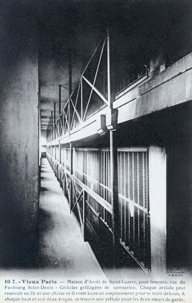 Prison Saint-Lazare, section for delinquent girls (la ménagerie.)